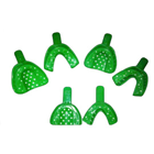 TOL #4 Adult Upper Small Green Disposable Plastic Impression Trays, Package Of 50