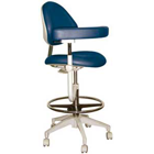TPC Advanced Technology Mirage Assistant's Stool, Featuring Abdominal Support, Vertical Adjustment