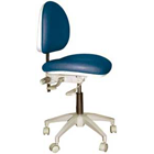 TPC Advanced Technology Mirage Doctor's Stool. Dimensions: Backrest Vertical Adjustment Range: 0