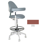 Mirage Assistant's Stool - Autumn Color. Featuring Abdominal Support, Vertical Adjustment Range
