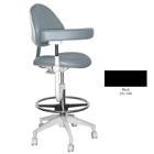 Mirage Assistant's Stool - Black Color. Featuring Abdominal Support, Vertical Adjustment Range: 0