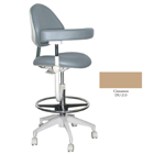 Mirage Assistant's Stool - Cinnamon Color. Featuring Abdominal Support, Vertical Adjustment Range