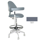 Mirage Assistant's Stool - Greystone Color. Featuring Abdominal Support, Vertical Adjustment