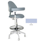Mirage Assistant's Stool - Ice Color. Featuring Abdominal Support, Vertical Adjustment Range: 0