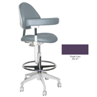Mirage Assistant's Stool - Purple Grey Color. Featuring Abdominal Support, Vertical Adjustment