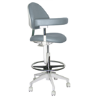 Mirage Assistant's Stool - Stormy Color. Featuring Abdominal Support, Vertical Adjustment Range