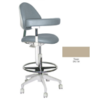 Mirage Assistant's Stool - Taupe Color. Featuring Abdominal Support, Vertical Adjustment Range: 0