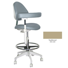 Mirage Assistant's Stool - Tumbleweed Color. Featuring Abdominal Support, Vertical Adjustment