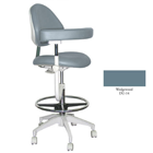 Mirage Assistant's Stool - Wedgewood Color. Featuring Abdominal Support, Vertical Adjustment