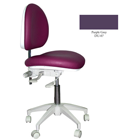 Mirage Doctor's Stool - Purple Grey Color. Dimensions: Backrest Vertical Adjustment Range: 0