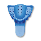 Tray-Aways #5 Perforated Small Upper Full-Arch Blue Plastic