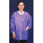 Extra-Safe Jacket - Purple Small, Hip-Length, Light-Weight, Breathable, with Snap-Front Closure, 3