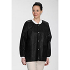 Extra-Safe Jacket - Black X-Large 10/Pk. Hip-Length, Light-Weight, Breathable, with Snap-Front