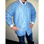 Extra-Safe Jacket - Medical Blue Medium 10/Pk. Hip-Length, Light-Weight, Breathable