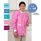 Extra-Safe Jacket - Ceil Blue Medium 10/Pk. Hip-Length, Light-Weight, Breathable, with Snap-Front