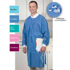 Extra-Safe Lab Coats - Ceil Blue Large 10/Pk. Knee-Length, Light-Weight, Breathable