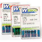 Webco K-Files 25mm #06 6/Box. Stainless Steel