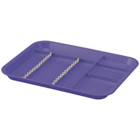 B-Lok Tray & Cover System Divided Tray, Size B (Ritter) - Gray, Plastic, 13-3/8