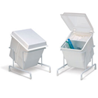 E-Z Storage Tub White with Clear Cover 5-1/4