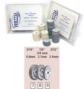 Mizzy Heatless #9 White Heatless Wheels are Made of Non-Contaminating, Aluminum Oxide and can be