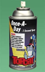 TopCat Once-A-Day 1 Second Spray, For use in air turbine hand pieces, prophy angles and contra