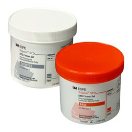 Express STD Putty Regular Set Heavy Body VPS Impression Material. 1 Jar Base and 1 Jar Catalys