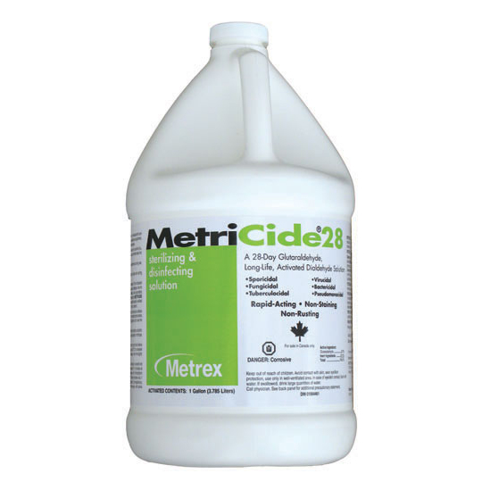 MetriCide 28 High-Level Disinfectant/Sterilant, 2.5% Glutaraldehyde, Contains (10-2800)