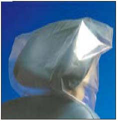 "Pac-Dent Disposables Headrest Cover, clear plastic, 11"" x 9.5"" x 2"", box of 250"