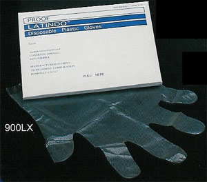 Plasdent Overgloves Overgloves - Clear Plactic, Medium, Box of 100