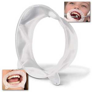 OptraGate 3D OptraGate Retractors - Adult Small, White 80/Bx. Latex-free Lip and Cheek Retractor