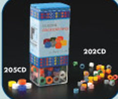 Plasdent Code Rings - Standard ASSORTED 80/Box. Silicone Instrument Color Code Rings. 8 assorted