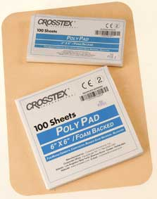 "Crosstex 3"" x 3"" (8cm x 8cm) Poly Mixing Pad. Extra heavy with a high poly finish, non-skid foam"
