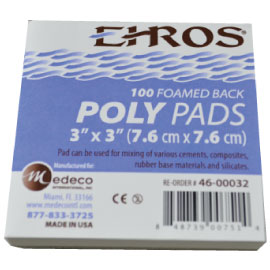 "Ehros Poly Mixing Pad 3"" x 3"" (7.6cm x 7.6cm) Ea. Non-skid foam base. Extra heavy with a high"
