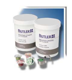 Butler Medium grit, Cherry Prophy Paste with Fluoride. Box of 200 Unit Dose Cups