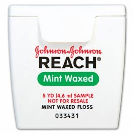 Reach Floss - Mint Waxed Trial Size, 5 yards 144/Pk. Dental Floss. Air-entangled multi-filament