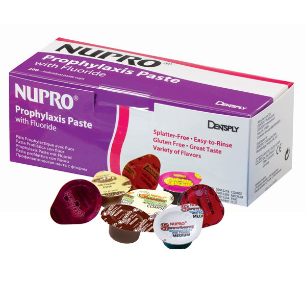 Nupro Coarse grit, Adult Variety Pack - Prophy Paste with Fluoride: Cherry, Mint, Razzberry