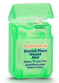 SmileGoods Mint Waxed Dental Floss coordinates with toothbrushes and maximizes your savings! Each