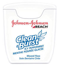Reach Cleanburst Floss - Icy Peppermint Trial Size, 5 yards 144/Pk. Waxed Dental Floss