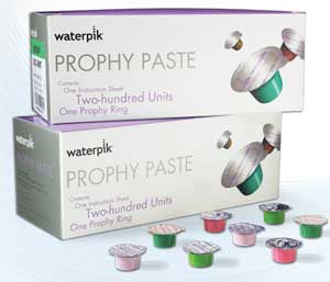 WaterPik Prophylaxis Paste Medium grit, Cherry Prophy Paste with Fluoride. Box of 200 Unit Dose