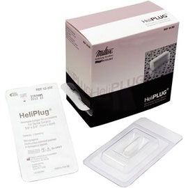 "HeliPlug 3/8"" x 3/4"" Absorbable Collagen Bovine Plugs 10/Bx"