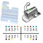 3B Orthodontic 20-Piece Translucent Ceramic MBT Bracket 0.022 with FREE Upper and Lower 0.016