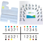 TOL 3B Translucent Ceramic ROTH Bracket 0.022, Hooks on 3,4,5, Package of 20