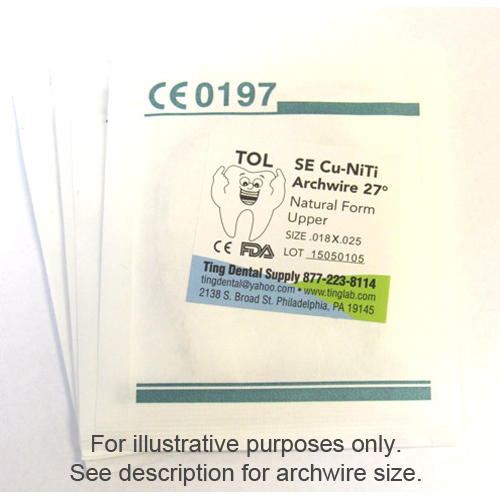TOL Copper 27 Cu-NiTi Archwire - 0.016 Natural Fo