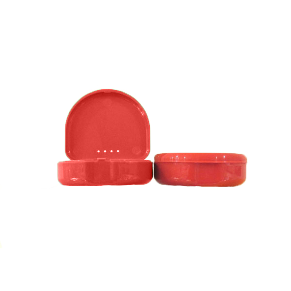 TOL RED Retainer Boxes, 50/Pk. Plastic with Hinge