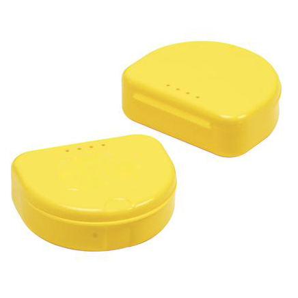TOL YELLOW Retainer Boxes, 50/Pk. Plastic with Hi