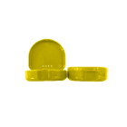 "TOL YELLOW Retainer Boxes, 250/Bulk Pack. Plastic with Hinged Lid, 3""W x 1""H"