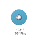 "Sof-Lex F&P Discs - Fine 3/8"", Pop-On, Urethane Coated Paper, Blue. Package"