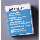 Unitek #3 Upper Right Primary Central Stainless Steel Crown Form, Box of 5 Crown Forms