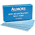 "Almore 3"" x 6"" bite registration wax sheets dead soft when heated, single box"