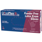 GlovePlus HD Latex Gloves Heavy Duty: X-Large, Powder-Free, Textured, Beaded